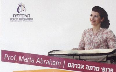 Ábrahám Márta a jeruzsálemi akadémián