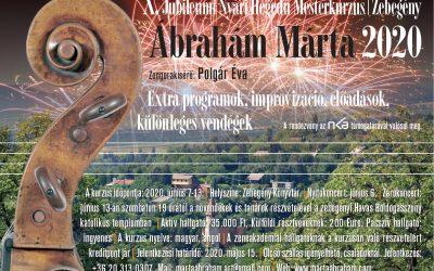 Ábrahám Márta X. Jubileumi Nyári Hegedű Mesterkurzusa Zebegényben